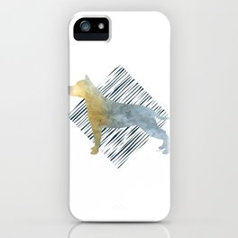 Modern American Staffordshire Terrier Dog Watercolor Stripes iPhone Case