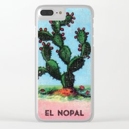 El Nopal Mexican Loteria Bingo Card Clear iPhone Case