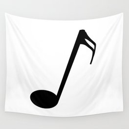 Sixteenth Of A Whole Musical Note Isolated Wall Tapestry
