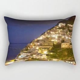 Nighttime In Positano Italy Rectangular Pillow