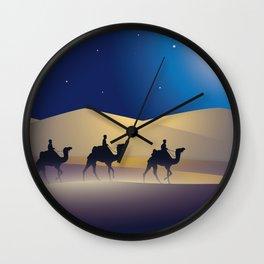 caravan at night Wall Clock
