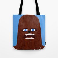 chewbacca Tote Bags featuring Chewbacca by Jack Teagle