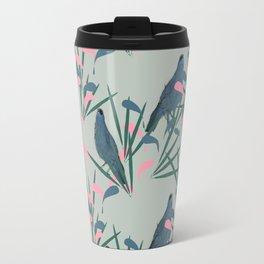 Kokako Wallpaper Pattern Travel Mug