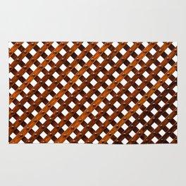 Symmetrical wooden pattern Rug