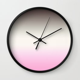 Chocolate -strawberry ice cream Wall Clock