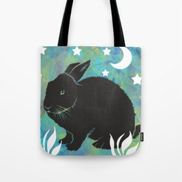 The Black Bunny Tote Bag