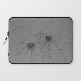 Line Drawing of Poppy Laptop Sleeve