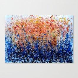 Rain Splashes  Canvas Print