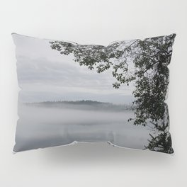 MADRONA SILHOUETTE FOGGY MORNING ON WEST SOUND ORCAS ISLAND  Pillow Sham