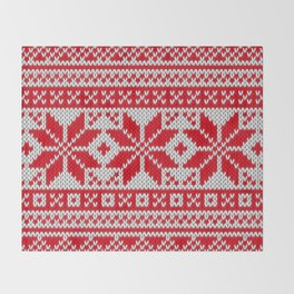 Winter knitted pattern 6 Throw Blanket