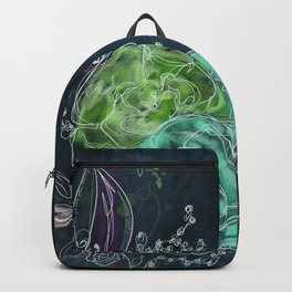 Midnight Dreams - Floral Art Backpack