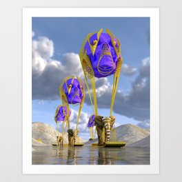 Elephantine Colossus Art Print