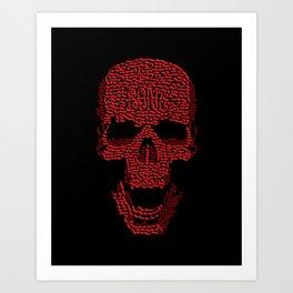 Skulligraphy Art Print