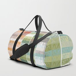 Lily pattern Duffle Bag