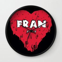 Love Fran Wall Clock