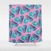 lucy Shower Curtains featuring Lucy by Rittsu