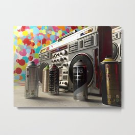 Spray cans and beats Metal Print