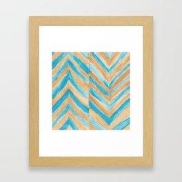 Beach Chevron Framed Art Print