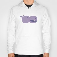 hippo Hoodies featuring Hippo by Anne-Renée Dumont