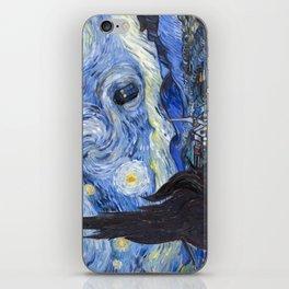 Starry Night with TARDIS iPhone Skin