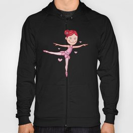 Cartoon Ballerina Girl Hoody