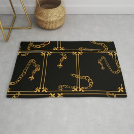 Unchained: Gold + Black Rug