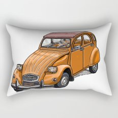 Orange 2CV Rectangular Pillow