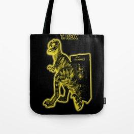 Electric Warriosaurus Tote Bag