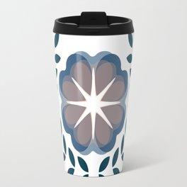 floral wreath // blue Travel Mug