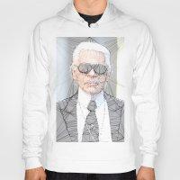 karl lagerfeld Hoodies featuring ICONS: Karl Lagerfeld by LeeandPeoples
