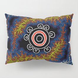 The Heart of Fire - Authentic Aboriginal Art Pillow Sham