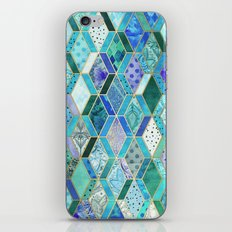Sapphire & Emerald Diamond Patchwork Pattern iPhone & iPod Skin