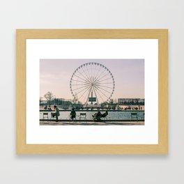 Ferris Wheel, Place de la Concorde, Paris, France Framed Art Print