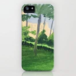 DANS LE PARC DE LA MAISON. iPhone Case