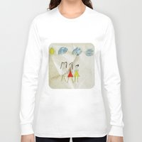 sisters Long Sleeve T-shirts featuring Sisters?  by Ethna Gillespie