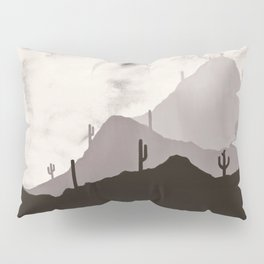 Arizona Desert Cactus Mountain Landscape Pillow Sham