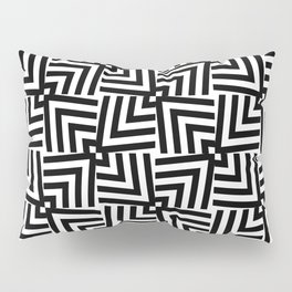 Black And White Op-Art Triangle Pattern Pillow Sham
