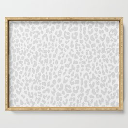 Pale Gray Leopard Serving Tray