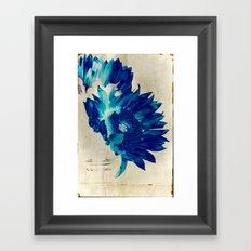 Sapphire Petal Framed Art Print