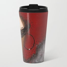 Crimson and Cream Sassy Girl Travel Mug