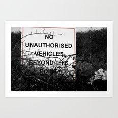 No vehicles sign Art Print