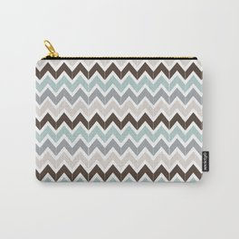 Seaside Chevron Carry-All Pouch