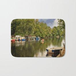Boats on River Bure Bath Mat