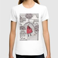 jazzberry T-shirts featuring The Old Village by Judith Clay