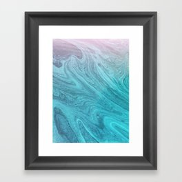 Sea Geode Framed Art Print