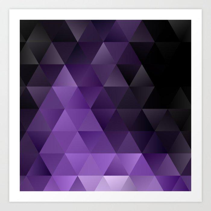 Purple Black Ice Kunstdrucke