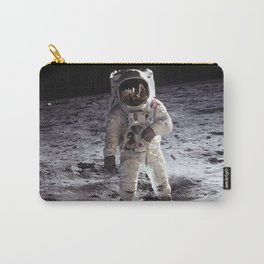 Apollo 11 - Iconic Buzz Aldrin On The Moon Carry-All Pouch