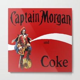 Captain and Coke Metal Print