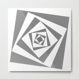 Square in a Square, in a Square Metal Print
