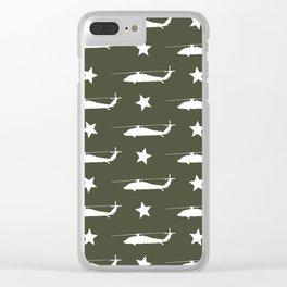 UH-60 Black Hawk Pattern Clear iPhone Case